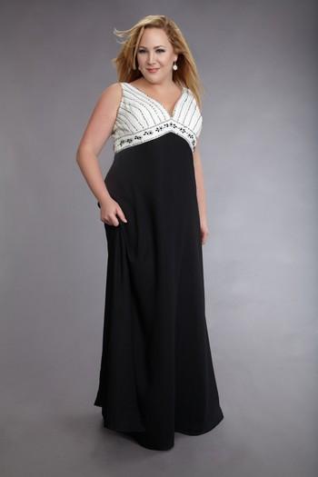 При таком фасоне юбка платья начинает расширяться к низу от груди.