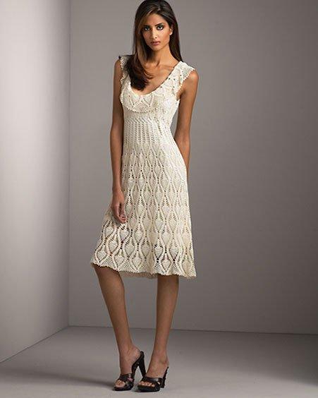 вязаные платья осень 2011 схема.  Вязание крючком платья схемы.