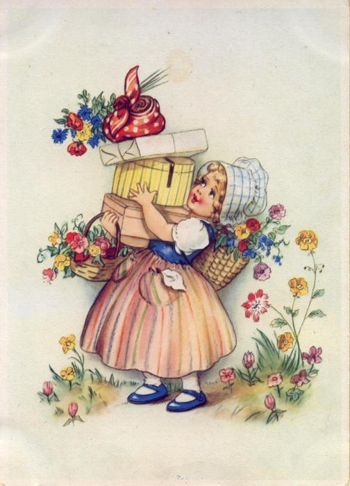 Немецкие ретро открытки, своими