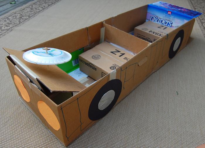 Машина сделать своими руками из картона