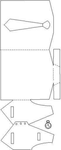 Открытка пиджак на 23 февраля своими руками с шаблонами