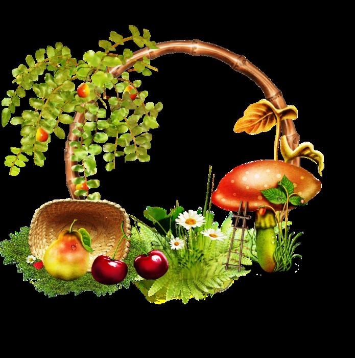 самых рисунок грибы и ягоды в лесу деревянные