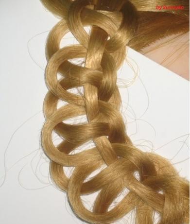 Перейдем к следующей схеме плетения.  Колосок из узлов.  Шаг 1.