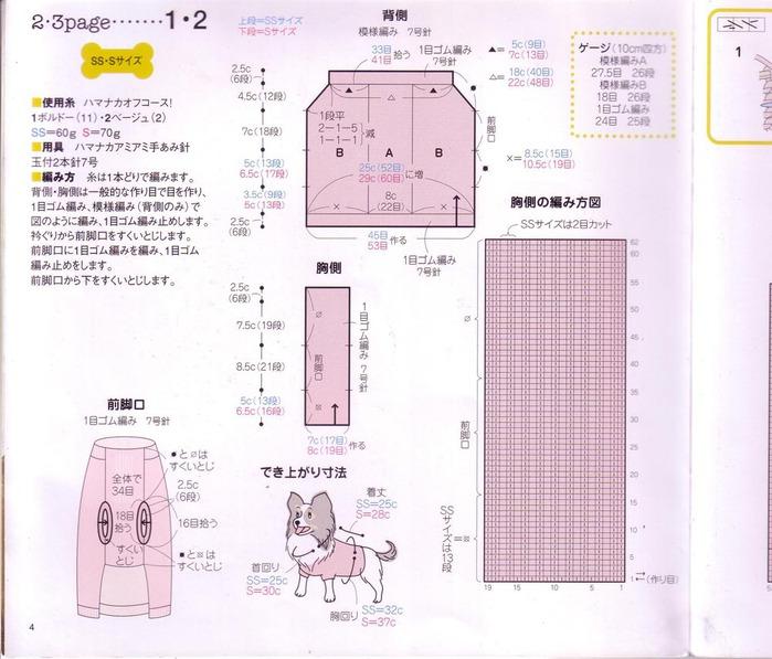схемы для вязание спицами для собак