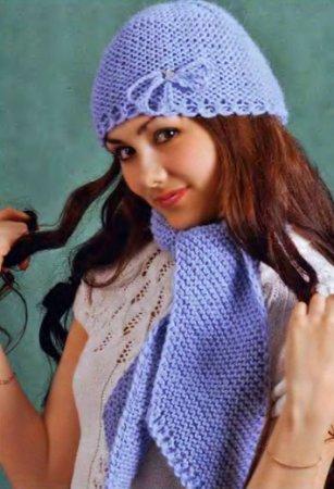 Вязаные шапки, вязание перчатки рукавицы и вяжем спицами орнамент.