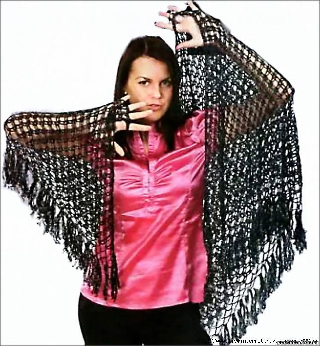 Вязание спицами и крючком, схемы вязания ... шали, палантины (13) юбки...
