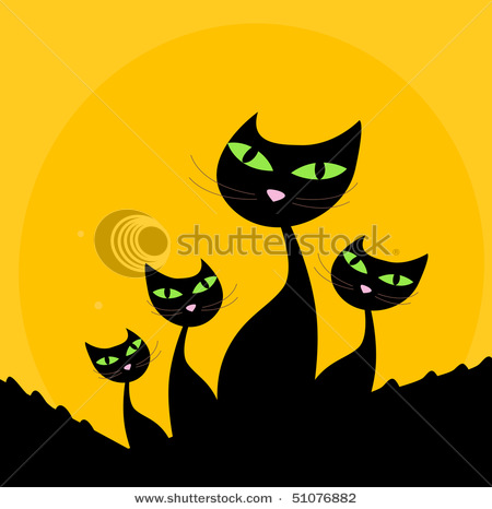 stock-vector-cat-family-black-silhouette-on-orange-background-four-stylized-cute-cats-isolated-on-orange-51076882 (450x466, 49Kb)