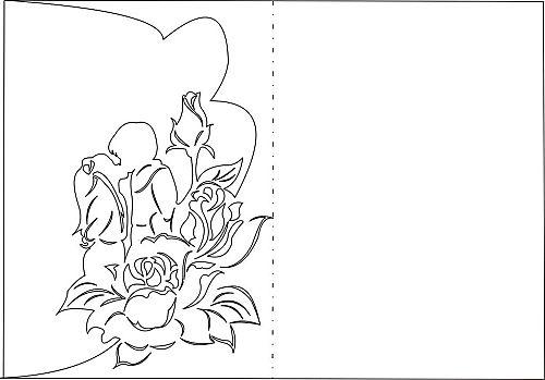 Заготовка открытки с днем рождения маме, днем свадьбы лет