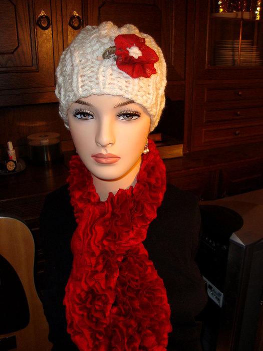 вязка шарфа с рюшами и воланами на спицах - Выкройки одежды для детей и...