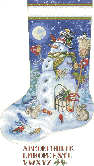 4267534_Dimensions_08839_Snowman__Friends_Stocking (395x700, 82Kb)