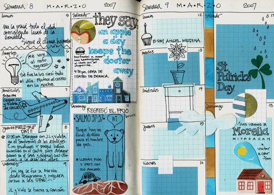 Journal pages for March 07 (550x393, 294Kb)