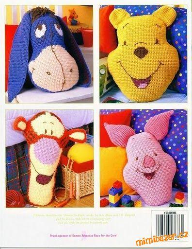 Правда это Винни-Пух и друзья.  Фото подушек и схема цветов.