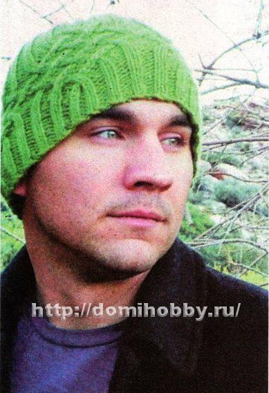мужская шапка спицами узором косы обсуждение на Liveinternet
