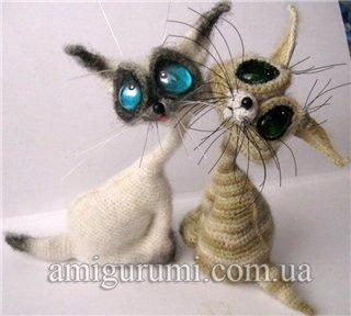 Вязание для кошек с крючком с описанием 2