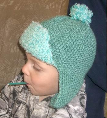 для детей ушанки вязания шапка схема