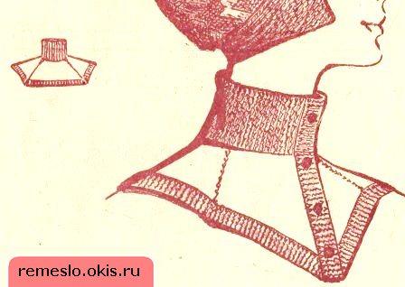 Шарф - манишка Начинается вязание с горловины резинкой 1х1.