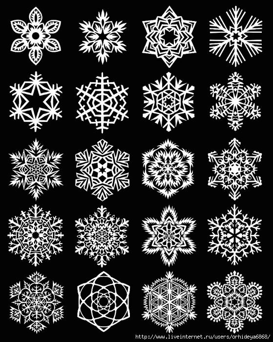 Снежинки очень просты в изготовлении и необыкновенно красивы.  Для.