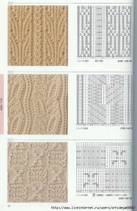 вязание бесплатные схемы. схемы вязания спицами. вязание крючком для...