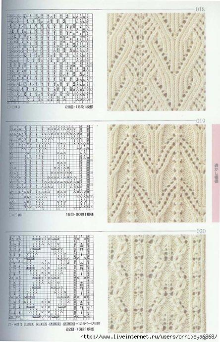 в галереях: узоры спицами схемы и летнее вязание схемы спицами...