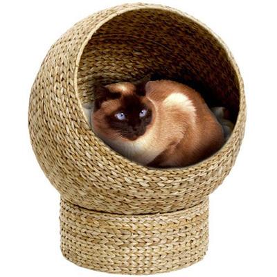 лежанка круглая в виде корзинки для котов