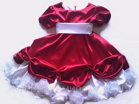 Нарядное праздничное воздушное платье для девочек на возраст 1-3 года.