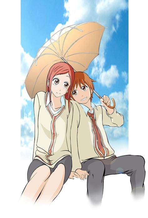 аниме картинки влюблённые пары