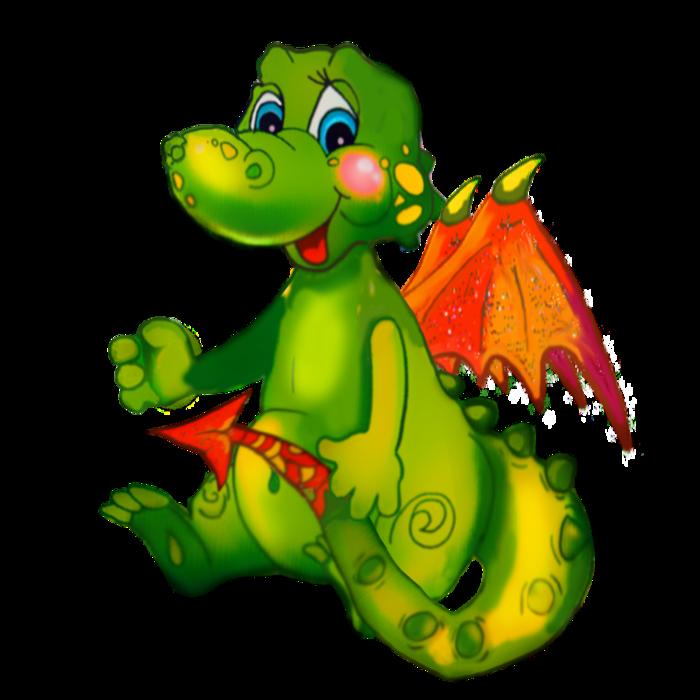 Картинки дракончика для детей, днем
