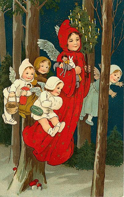 С Рождеством вас!  На конуне Рождества красивые открытки я нашла!