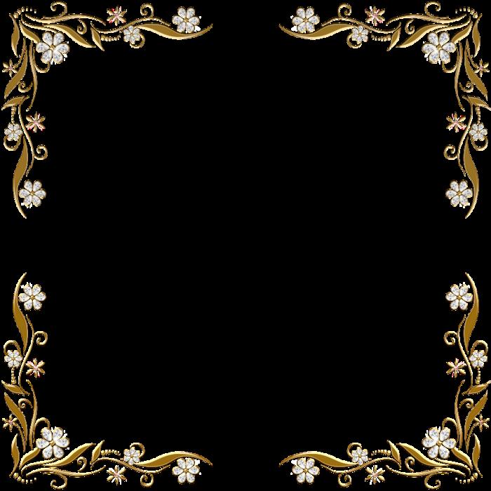 Gold Border Vector Png Wedding Invitation Card Golden: ЗОЛОТЫЕ ЦВЕТОЧНЫЕ УГОЛКИ ДЛЯ ФОТОШОПа. Обсуждение на
