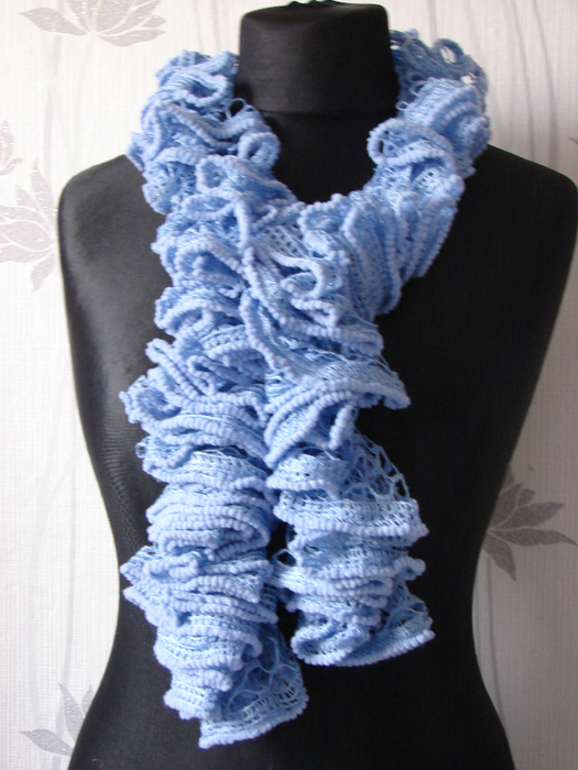 Романтический шарф из ленточной пряжи.  Стоимость: 100 гр. Раздел...