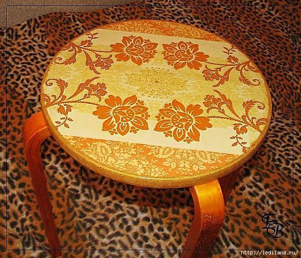 декупаж по мебели. diy monday diyideas.com decoupage furniture.