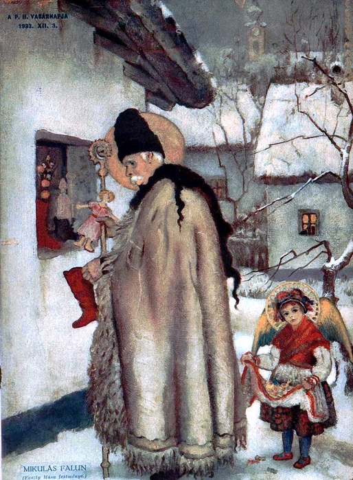 Feszty, Masa (1895 - 1979) Santa Claus in the Country (514x700, 357Kb)
