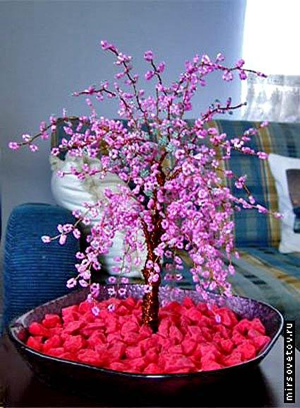 Вязание бисером цветы сакурф - Master class