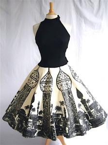 осенние юбки в клетку в стиле 50-х годов.