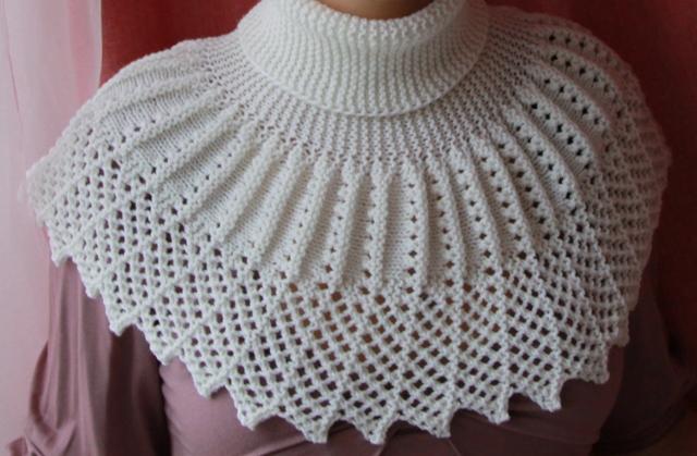 вязаные на спицах манишки - Выкройки одежды для детей и взрослых.