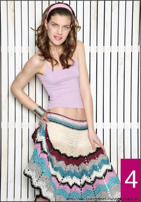 Комментарий: для женщин, вязание спицами юбок.