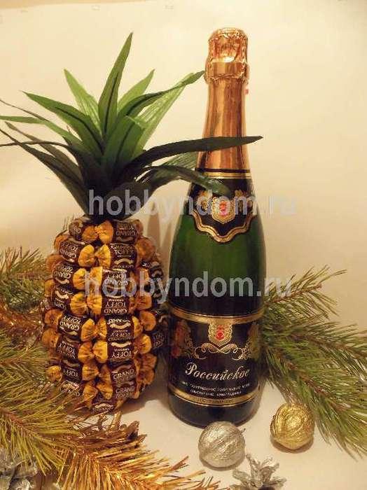 Обложки Поделки из шампанского и конфет своими