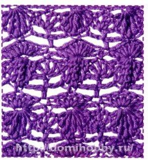 Шарф связанный крючком вивьен схема. шарфы стильные.