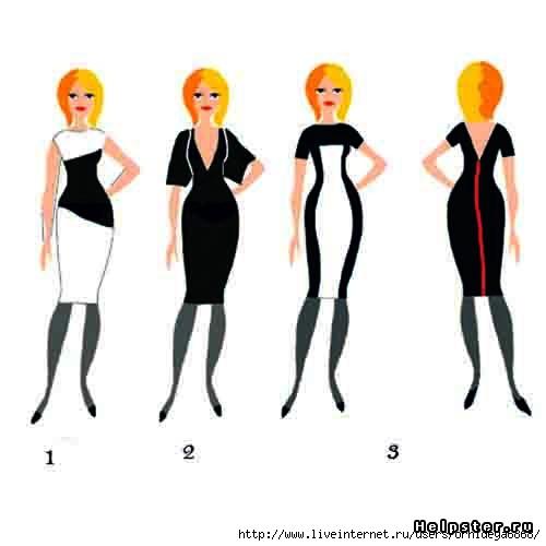 Какой фасон платья вам нравиться для фигуры 'груша'? (эскизы внутри)