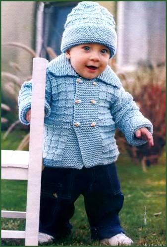 схемы вязания спицами шапочки для новорожденных.