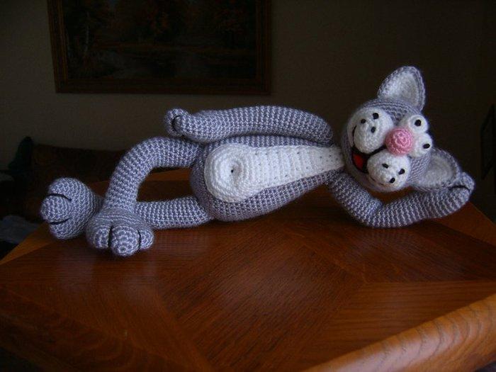 Схема вязания кота василия крючком