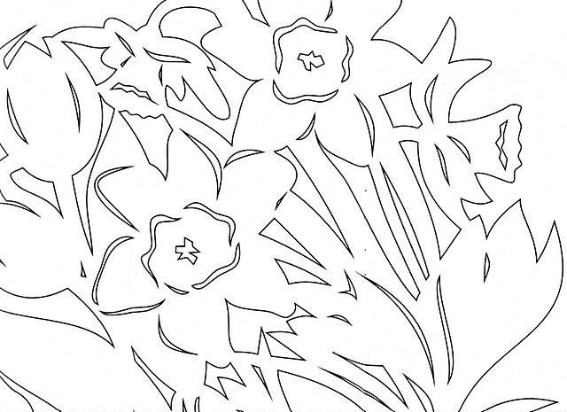 Розой черном, шаблон цветов для открытки к 9 мая