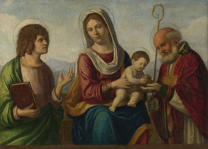 800px-Cima_da_Conegliano,_Madonna_col_Bambino_tra_i_santi_Giovanni_evangelista_e_Nicola_di_Bari (700x501, 64Kb)