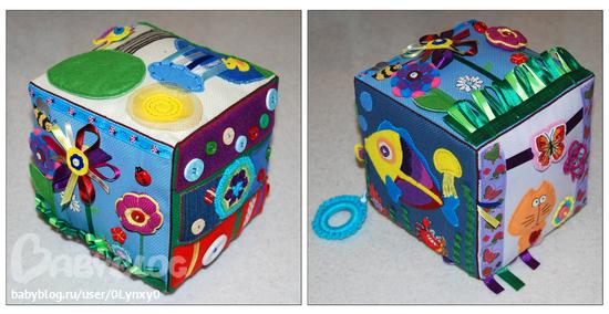 Развивающий кубик своими руками, идеи мастер класса 17