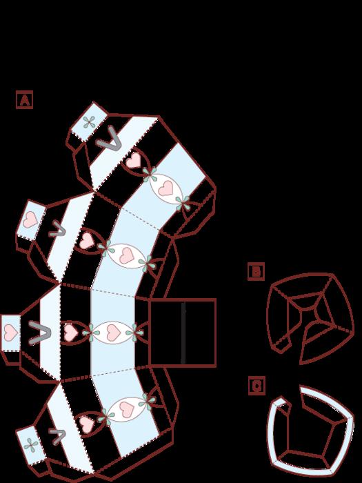 Вазы из картона своими руками схемы шаблоны