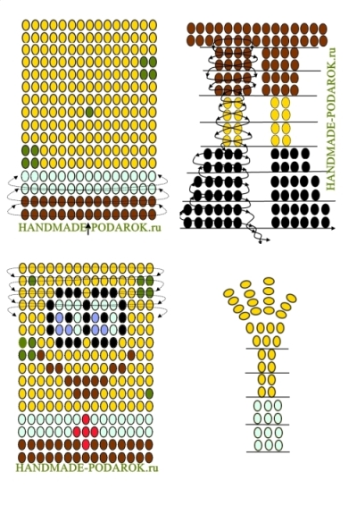 Белка бисера схема плетения фото 586