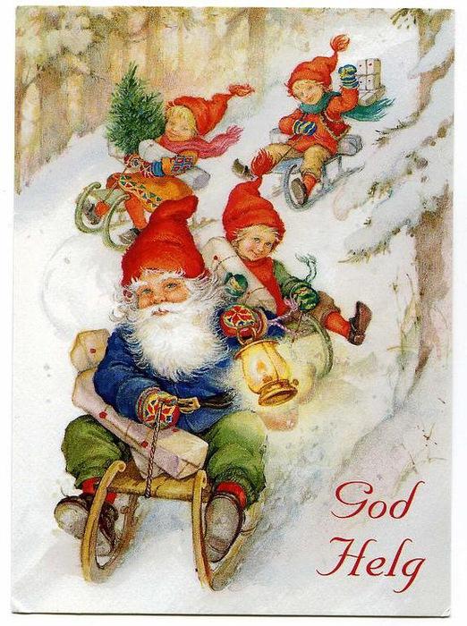 Новогодние открытки гном, открытки