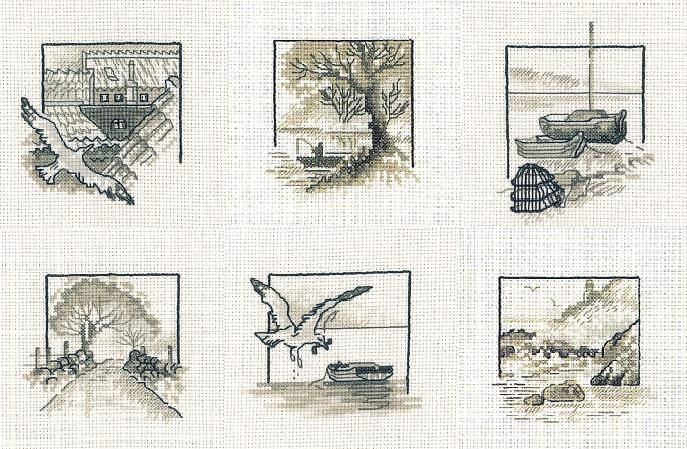 Маленькие схемы для вышивки цетов - Цветы крестиком 33