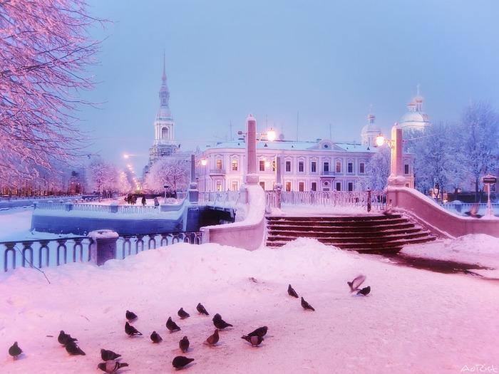 фото зимний санкт-петербург