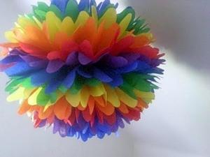 Как сделать бумажные шары своими руками - Поделки
